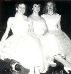 1953 Senior Prom  -- Maedell Martin, Pat Mathis, Shirley Moore
