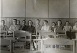 1955 Latin Class --  Front: Jerry Pierce, Shirley Pope, Barbara Dunlap, Linda Murray         Back: Wendell McManus, Shir