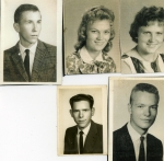 1962:  Top: George Cottrell, Janice White, Mary Beth Pledge.   Bottom: Perry Isbell, Joe Mac Alphin