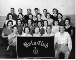 1956 Beta Club ------------------Back: Jimmy Trout, Bill Terrill, Jerry Leach, Billy Jack Burton, Bill Emge, Mrs. Terril