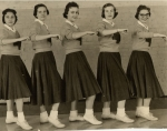 1957 Cheerleaders  -- Dava Headden, Betty Carolyn Reed, Katie Winchester, Janice Whitson, Mary Kay Hall