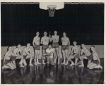1955 Boys Basketball Team: (left to right) Jan Ragsdale, Rayburn Martin, Ronald Mathis, Franklin Myers, Bobby Gregory, B