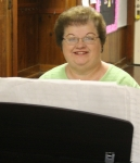 Libby George, pianist at banquet