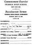 1941 Commencement Exercises