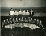 1953 Girls Basketball -- Seated: Joy Park, Anita Mae Wright, Erma Sue Hipp, Faydette Hamilton, Becky Stephens, Maedell M