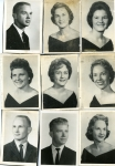 1962: Top:Billy Hall, Dollyann Myers, Oneida Klutts.  Middle: Mary Beth Pledge, Shirley Bailey, Judith Headden.   Bottom